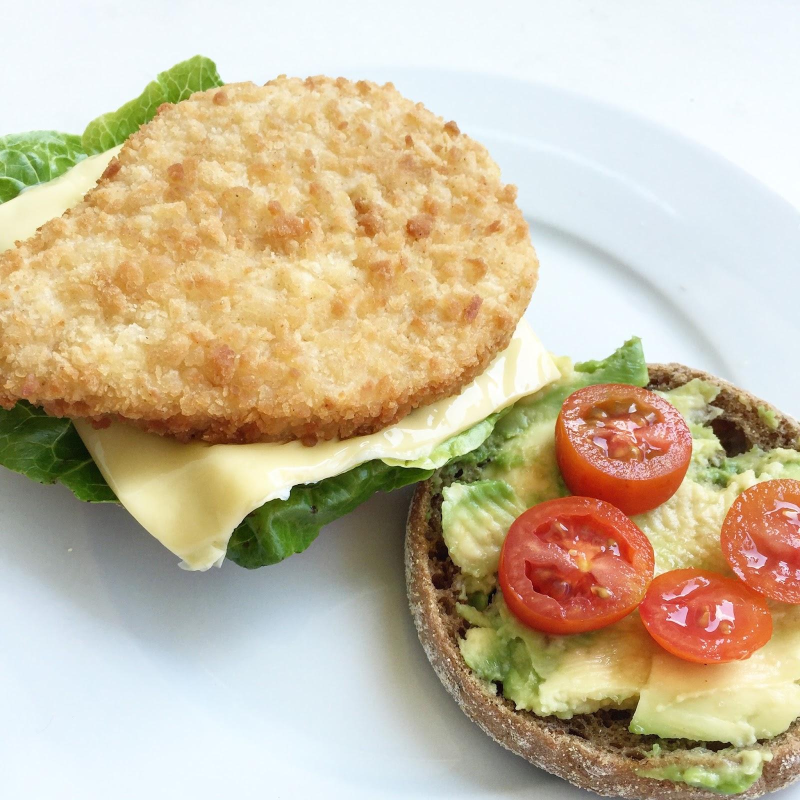 rezept f r vegetarische chicken avocado burger brina le. Black Bedroom Furniture Sets. Home Design Ideas