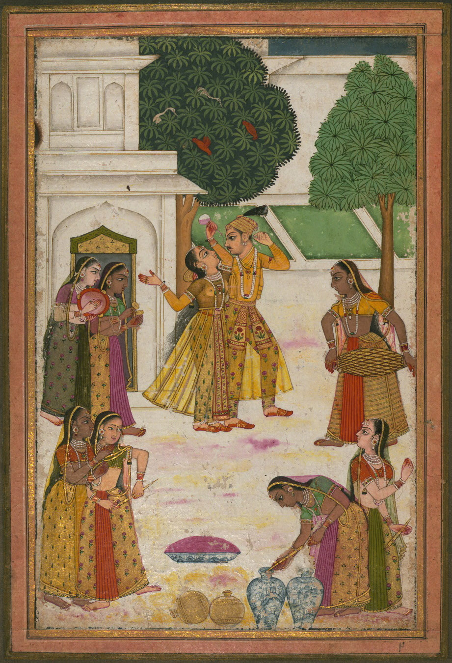 Vasanta Ragini  - Miniature Painting, Deccan School, Ragamala series, 19th Century