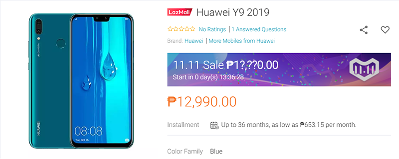 Price at Lazada PH