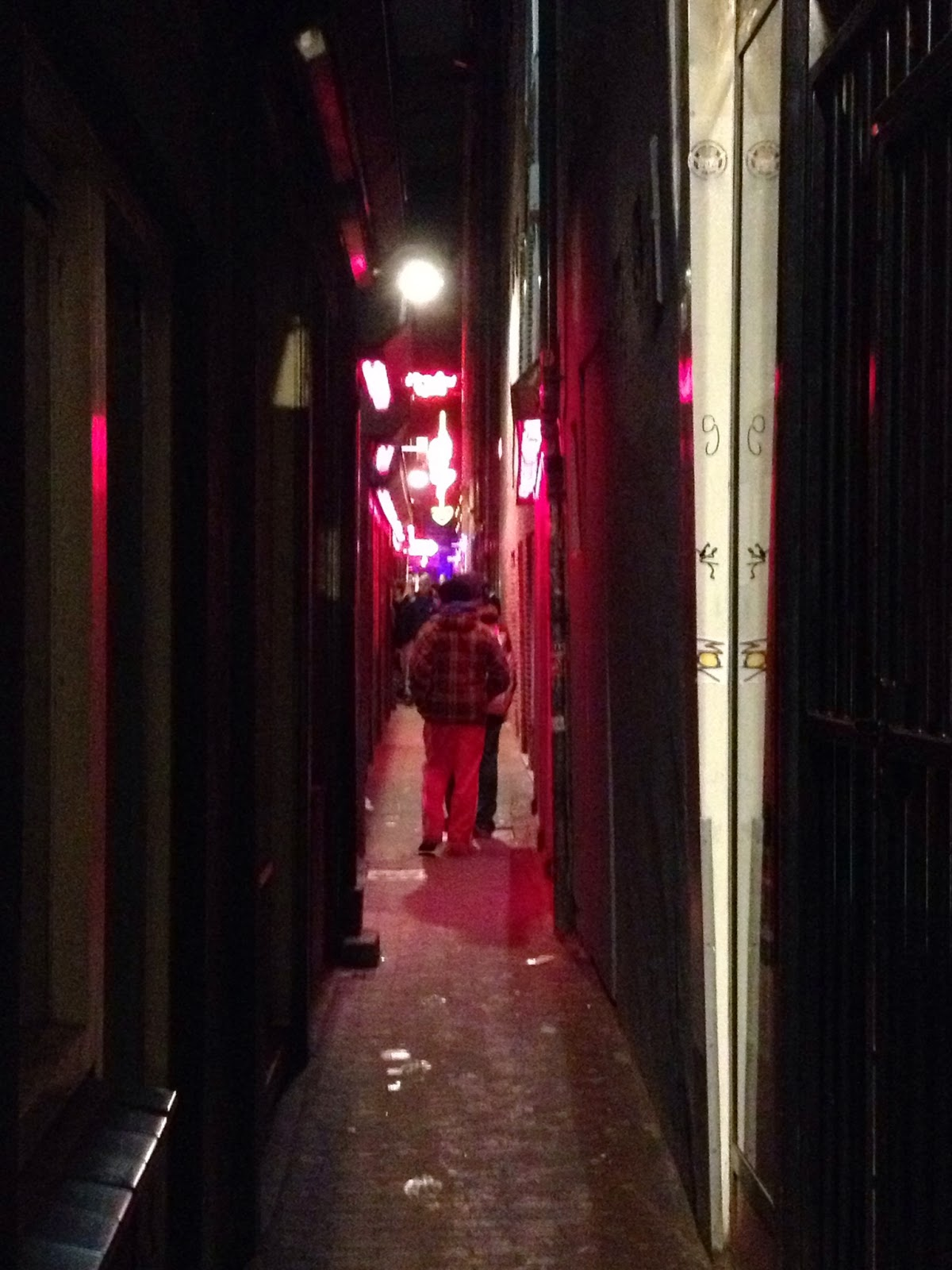 Amsterdam - Narrow streets of the Red Light District