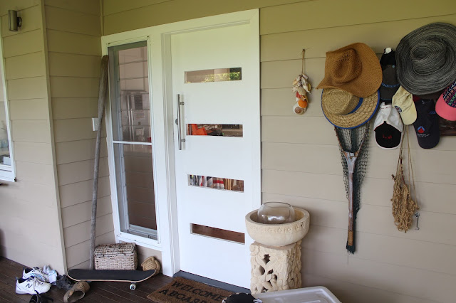Beach House Front Door Makeover To Revive A Tired Space In Our Home