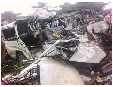 18 passengers crushed to death in Ekiti road crash (Photos)