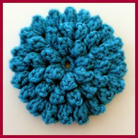 Flor pop corn a crochet