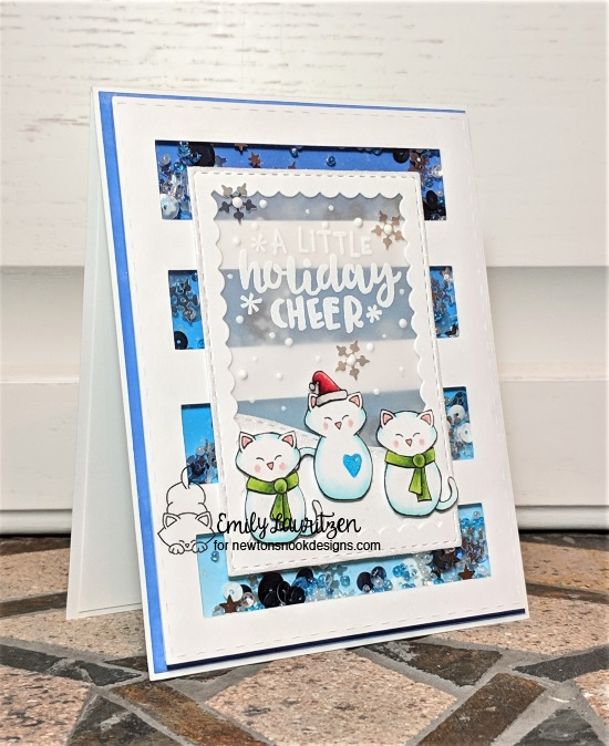 A little holiday cheer features Ornamental Wishes, Framework, Land Borders, and Flaky Friends by Newton's Nook Designs; #newtonsnook