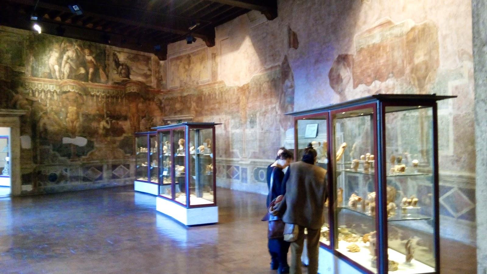Com as amigas no Museu arqueológico de Palestrina