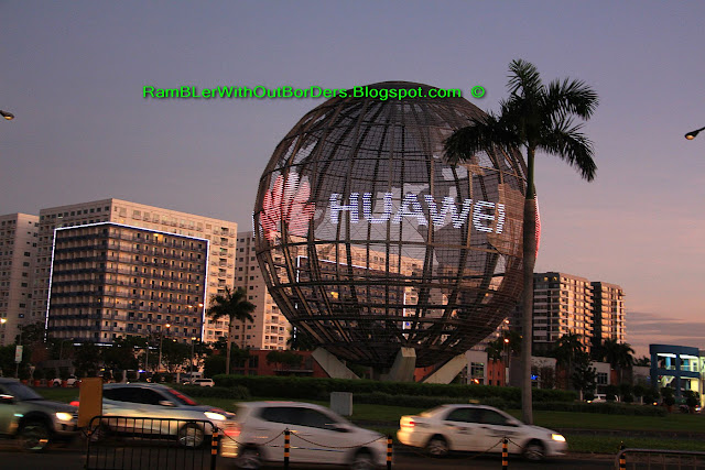 Advertising globe, Santa, SM Mall of Asia, Manila, Philippines