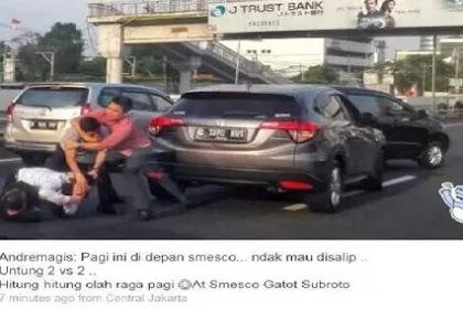 Konyol, Empat Orang Berkelahi di Tengah Jalan Tol Gatot Subroto Gara-gara ini