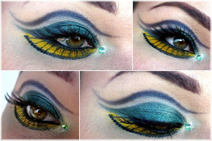 Queen Nehelenia eye make-up