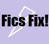 fics fix title image with white lightning bolt and purple background