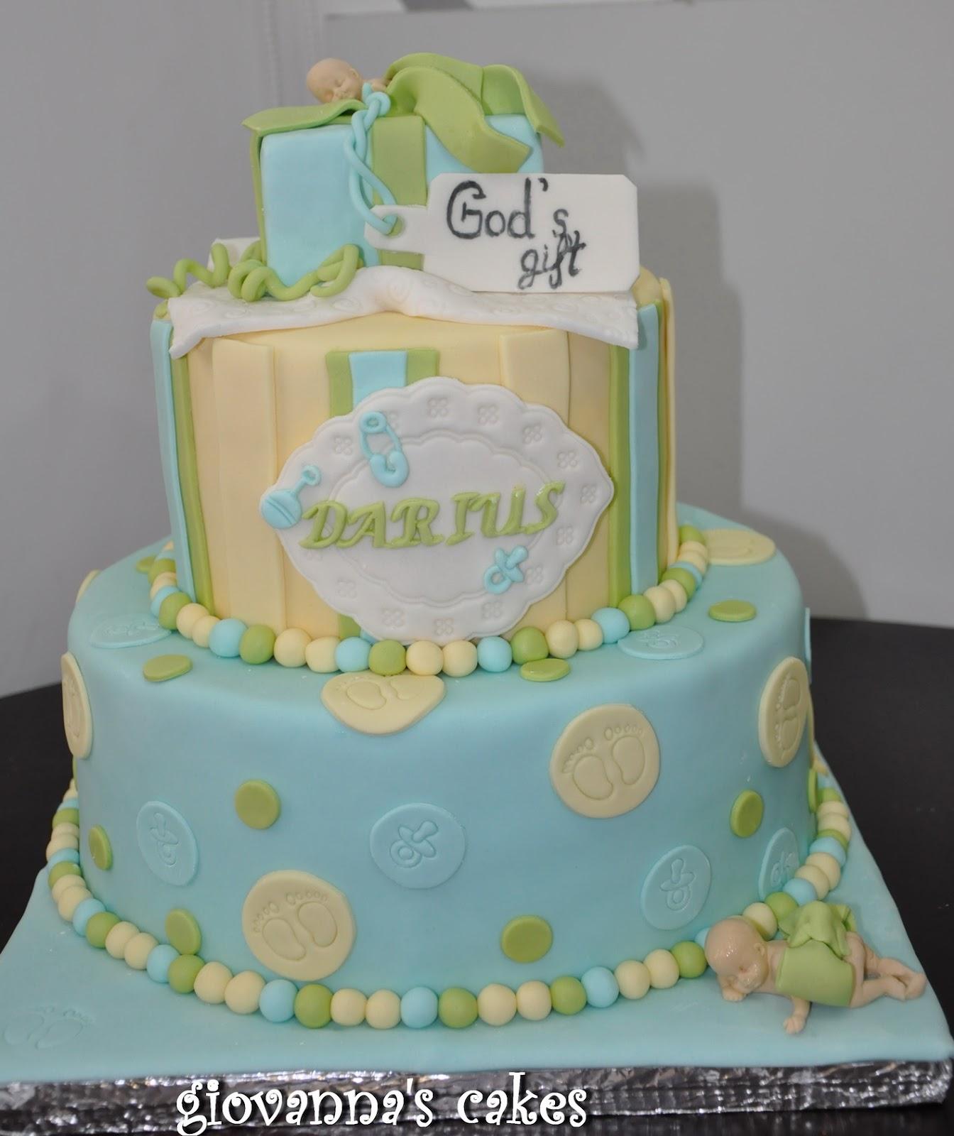 Giovanna S Cakes Baby Boy God S T Christening Cake