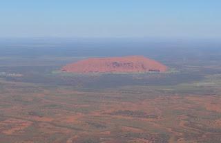 Uluru - Ayers Rock from Air plane