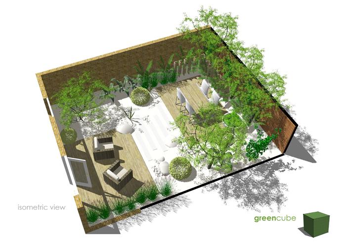 greencube garden and landscape design, UK: Courtyard ...