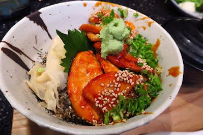 Kuro Maguro, grilled mekajiki toro don