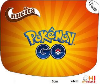 Etiquetas Nucita de Pokemon Go para imprimir gratis.