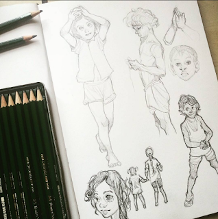 Child figure drawing practice