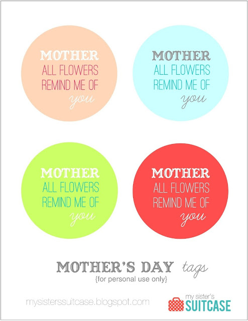 photo about Free Printable Mothers Day Tags known as Moms Working day Tags no cost printable - My Sisters Suitcase
