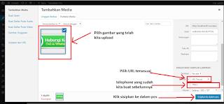 cara mengatur propeties url direct pada gambar