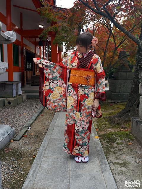 Autumn's kimono coordination, Fukuoka