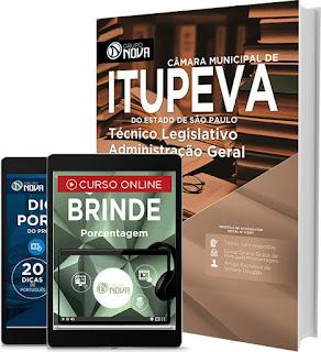 Apostila Câmara de Itupeva 2017 Impressa técnico legislativo. Grátis Cd ROM