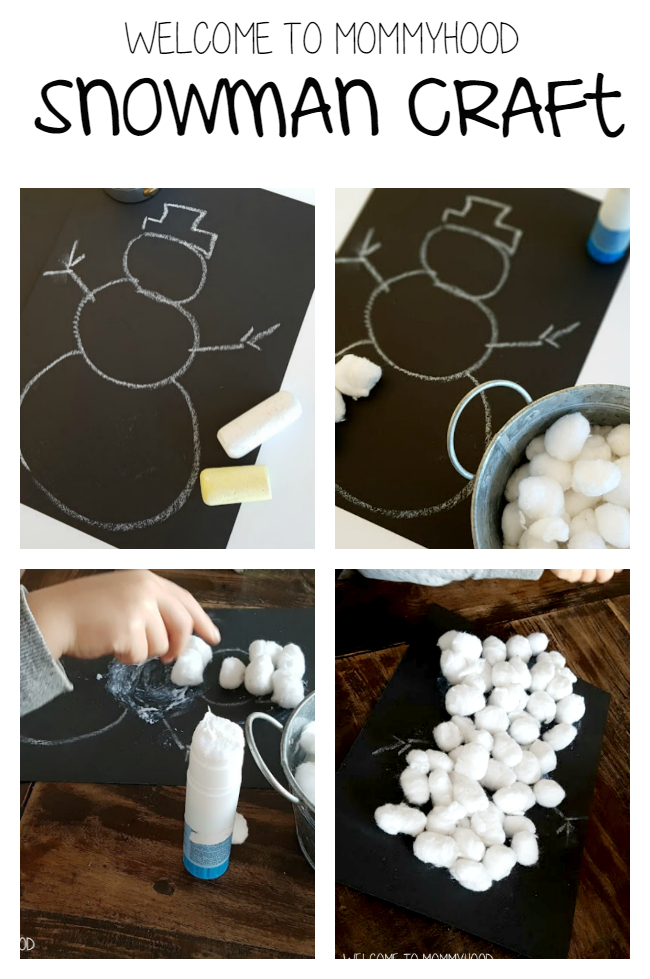 Winter activities: snowman craft by Welcome to Mommyhood #winteractivities, #preschoolactivities, #christmasactivities, #finemotor, #preschool, #artsandcrafts