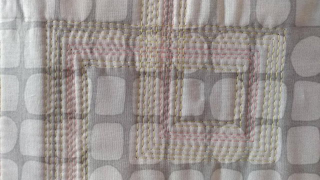 Modern log cabin inspired mini quilt for Curated Quilts