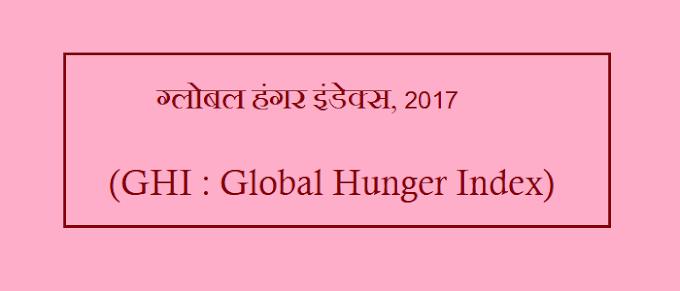 ग्लोबल हंगर इंडेक्स, 2017