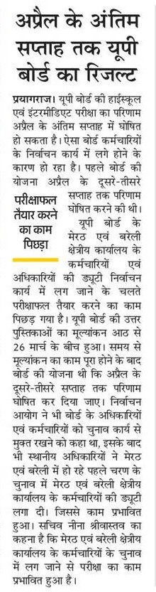 UP Board Result News