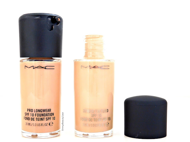 MAC Pro Longwear Foundation and MAC Studio Fix Foundation Packaging