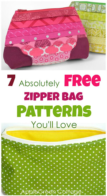 These free zipper bag patterns  make cute and practical zipper pouches and are easy sewing projects. These are beginner sewing tutorials and free patterns. Great and quick sewing ideas for your next zipper pouch, and they make perfect DIY gifts, too! #sewing #zipper