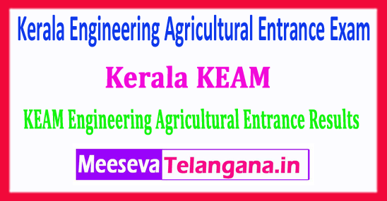 Kerala KEAM Result 2018 Kerala Engineering Agricultural Entrance Exam 2018 Results