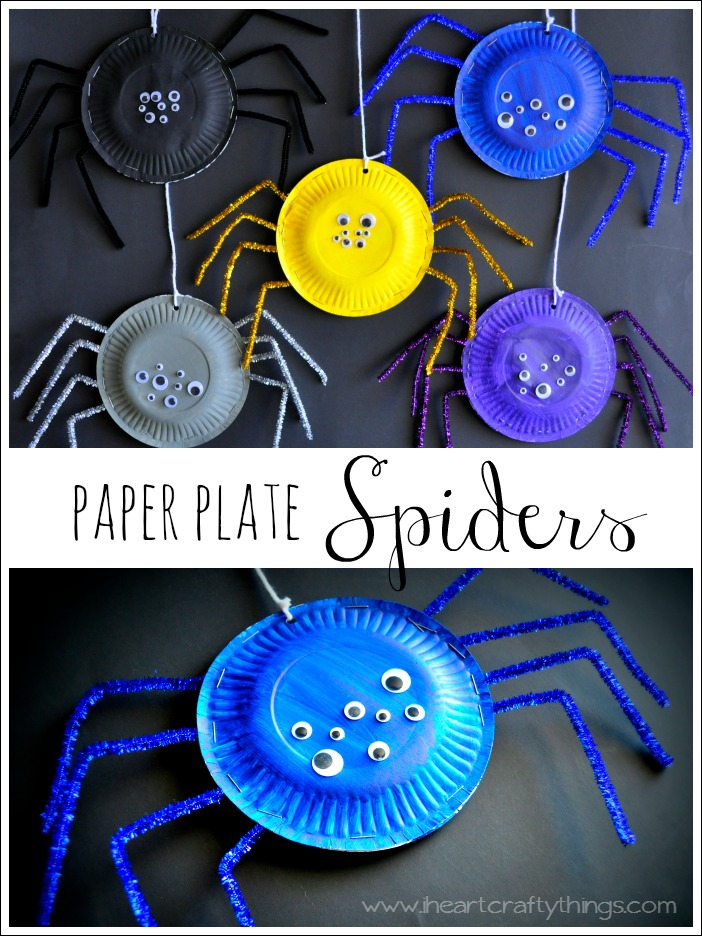 How to Make a Simple Paper Spider in its Web | Diy halloween decor ... | 936x702