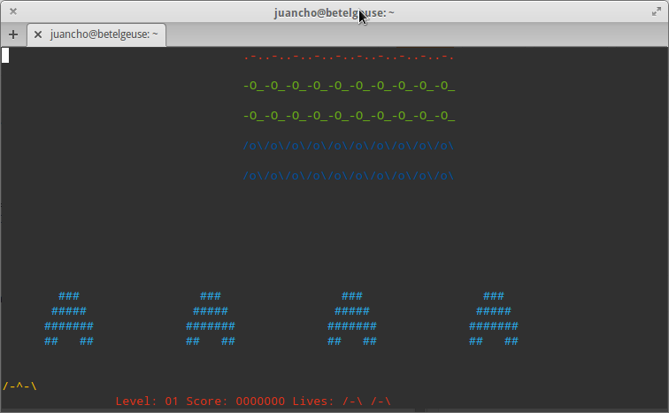 Space Invaders para Linux