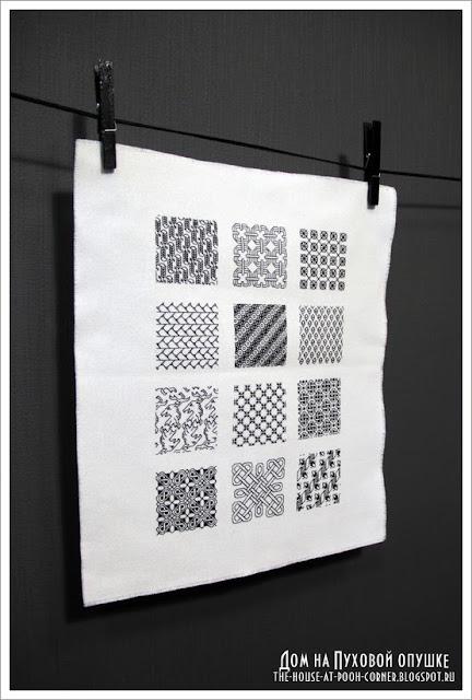 Вышивка квадраты блэкворк