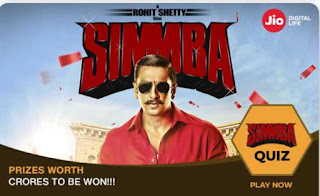 ALL ANSWERS - JIO SIMMBA QUIZ CONTEST