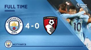 Manchester City Bantai Bournemouth 4-0