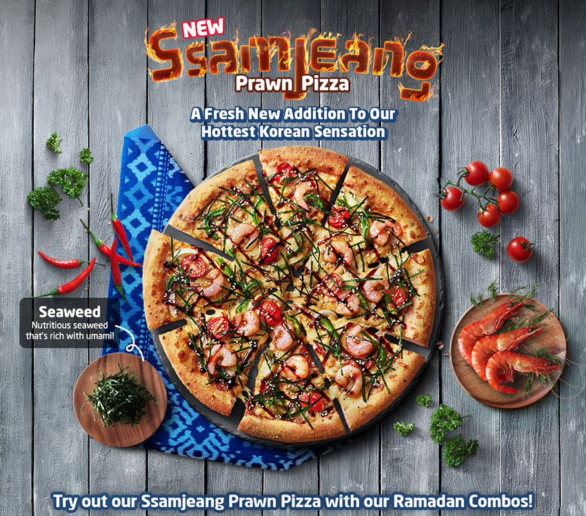 [Food Review] A New Addition to Domino's Hottest Korean Sensation - Ssamjeang Prawn