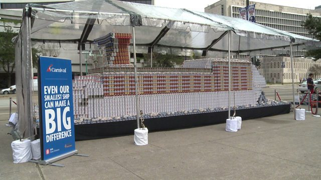 Largest Carnival Cruise Vessel Made From Cans of Food