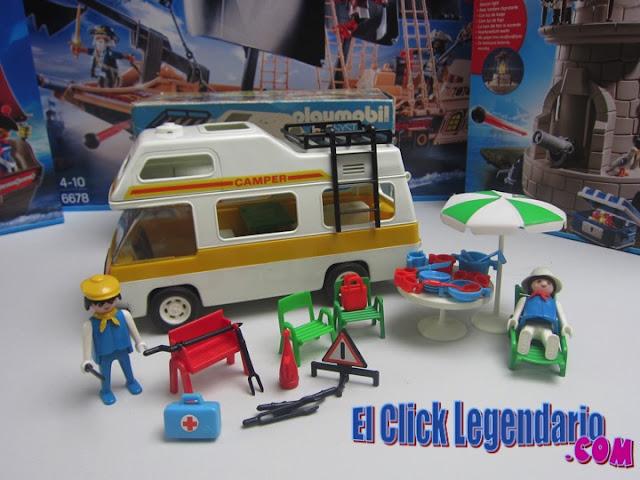 El click legendario playmobil 3258 la antigua for Autocaravana playmobil