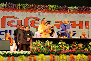 Vijay Rupani sworn in as the 16th Chief Minister of Gujarat