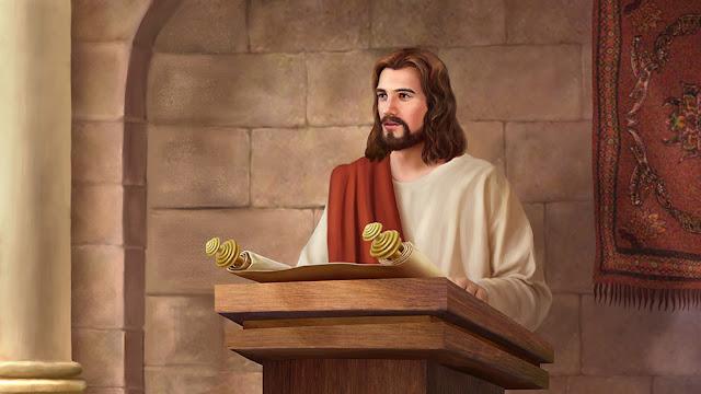 全能神教會手繪圖-主耶穌講道