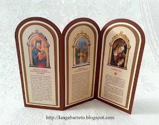Cartão com orações