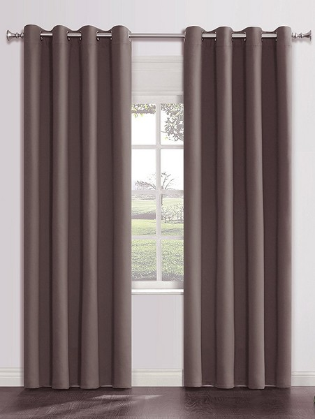 Luxurious Dark grey blackout curtains
