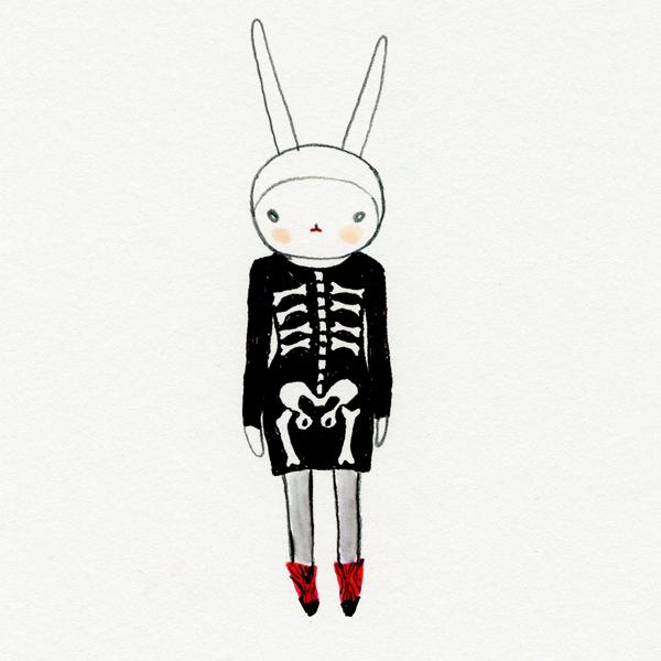 Fifi Lapin: Fifi in the skeleton dress