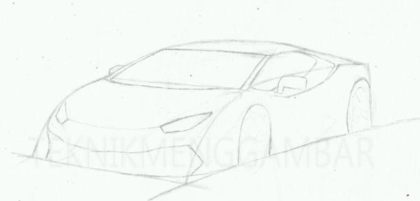 Teknik Menggambar Mobil Sport