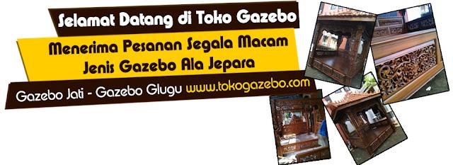 Promo Gazebo Kayu Jati Ukir dan Minimalis