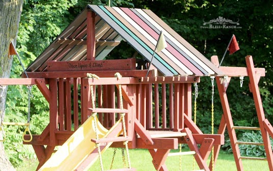 Wood Roof Playground Bliss-Ranch.com