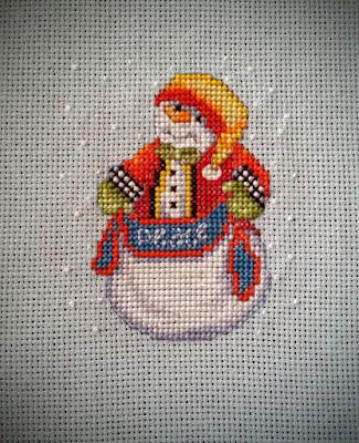снеговики от Janlynn, елочные игрушки, вышивка, вышитые снеговики