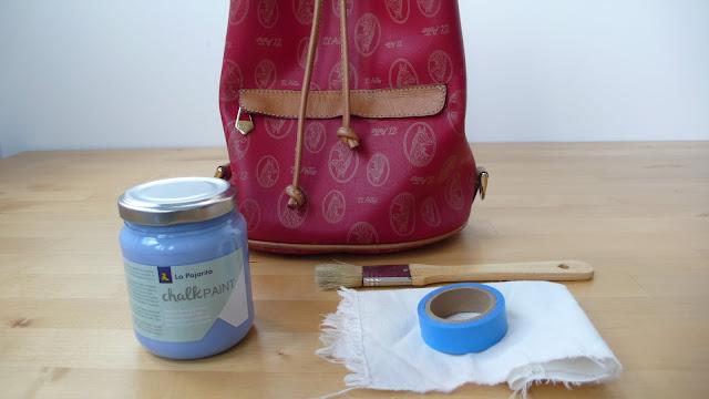 Materiales renueva un bolso de cuero con chalk paint