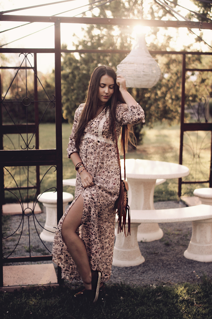 How To wear Maxi Dress Boho Gypsy Look Aimerose Blog
