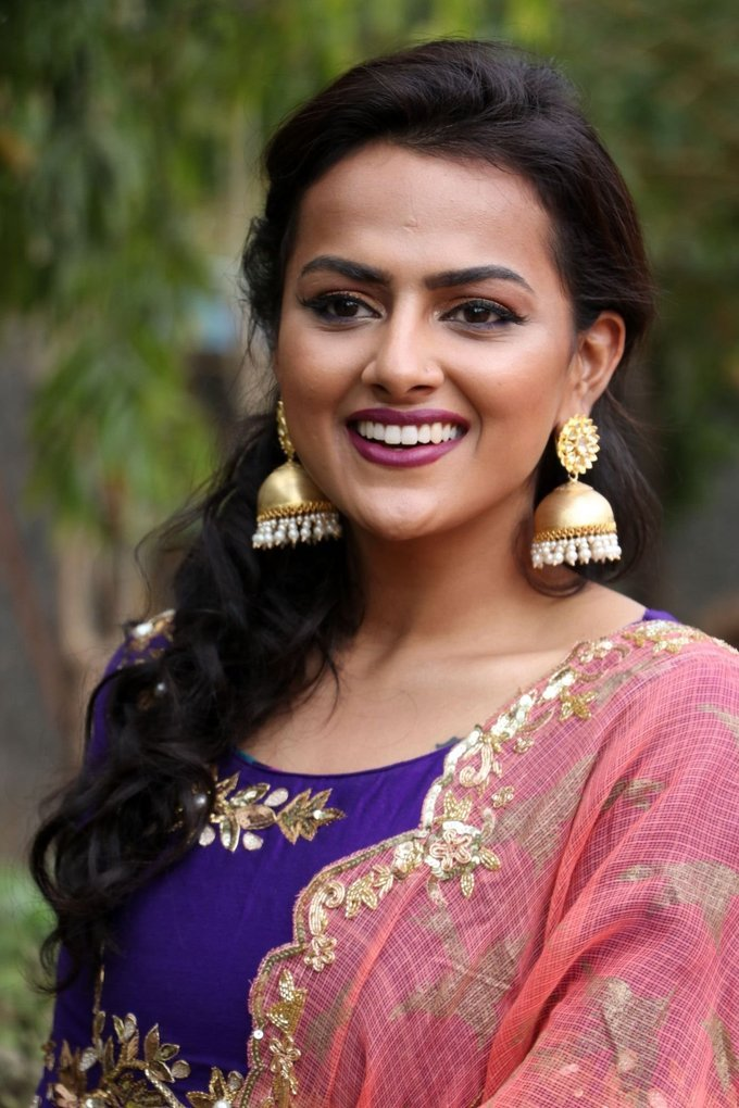 Shraddha Srinath Purple Churidar Spicy Stills